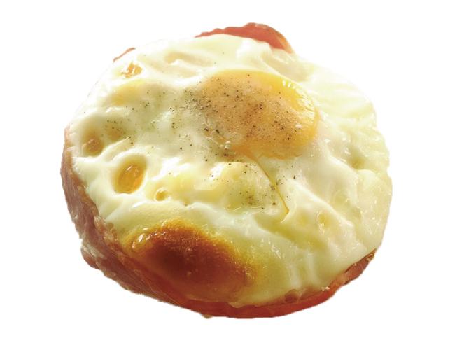 【 朝食におすすめ♪ 】 御養卵のベーコンエッグ